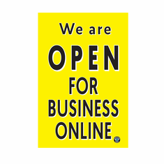 We are open for business online - banner