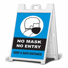 No Mask, No Entry - sidewalk