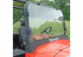 3 Star MR10 Hard-Coated One-Piece Front Windshield w| Adjustable Vents - Mahindra ROXOR