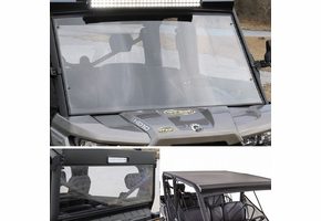 Battle Armor Designs Full Front Windshield, Top and Back Combo - Can Am Defender Max