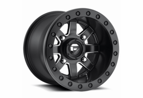 Fuel Maverick D938 Matte Black Milled Beadlock Wheel Set - 14 and 15 Inch