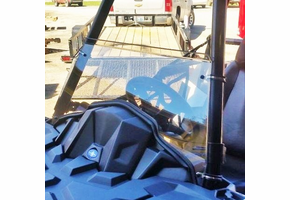 Dot Weld Half Front Windshield - Polaris ACE