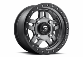 Fuel Anza D558 Matte Gun Metal Wheel Set - 14 and 15 Inch