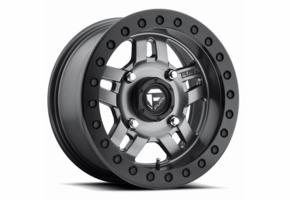 Fuel Anza D918 Matte Gun Metal Beadlock Wheel Set - 14 and 15 Inch