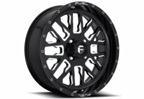 Fuel Stroke D611 Gloss Black Wheel Set - 18 | 20 | 22 | 24 Inch
