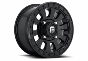 Fuel Tactic D630 Satin Black Wheel Set - 14 and 15 Inch