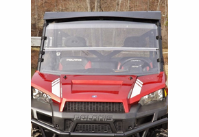 Dot Weld Folding Front Windshield - 2013-19 Full Size Polaris Ranger w| Pro-Fit Cage