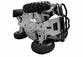 Rival Aluminum Skid Plate And Guards Kit - 2016-19 Polaris Sportsman Touring 570