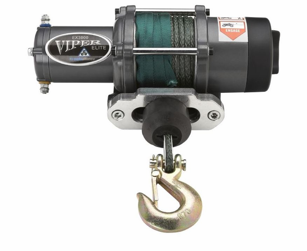 "Viper Elite 3000 lb. Winch - 1/4"" Synthetic Cable"