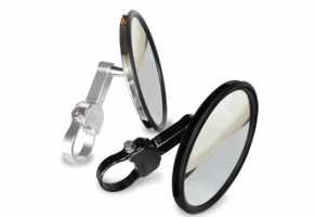 Axia Alloys 5 Inch Flat Side View Mirror w| 1.5 Inch Arm Extension |Sold in pairs|
