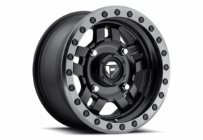 Fuel Anza D557 Matte Black Wheel Set - 14 and 15 Inch