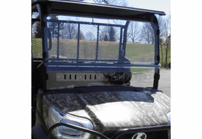 3 Star MR10 Hard-Coated Modular Two-Piece Front Windshield w| Adjustable Vents - Kubota RTV X900 | X1120