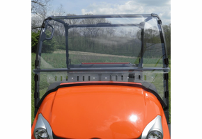 3 Star MR10 Hard-Coated Modular Two-Piece Front Windshield w| Adjustable Vents - Kubota RTV 400 | 500