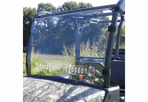 3 Star MR10 Hard-Coated Modular Two-Piece Front Windshield w| Adjustable Vents - Kubota RTV X1140