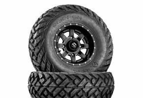 Fuel Maverick D538 Matte Black & Milled Wheels w| Fuel Gripper Tires