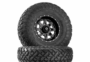 Fuel Maverick D538 Matte Black & Milled Wheels w| Fuel Gripper R | T Tires