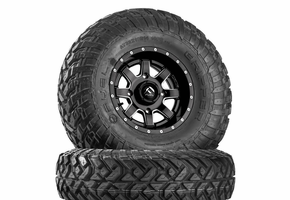 Fuel Maverick D538 Matte Black & Milled Wheels w| Fuel Gripper T | R | K Tires