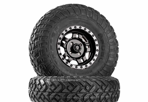 Fuel Anza D557 Matte Black Wheels w| Fuel Gripper R | T Tires