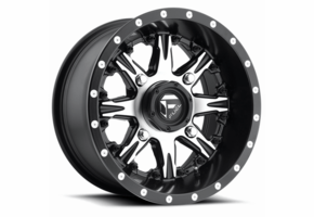 Fuel Nutz D541 Black and Machined Wheel Set - 14x7