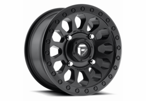 Fuel Vector D579 Matte Black Wheel Set - 14 and 15 Inch