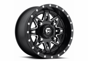 Fuel Lethal D567 Matte Black Milled Wheel Set - 14 and 15 Inch