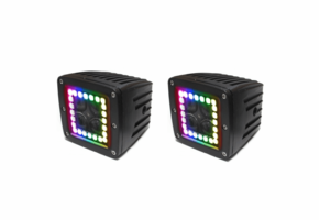 3 Inch ColorADAPT Series RGB-Halo LED Cube Light Kit by Race Sport Lighting |Sold in Pairs|