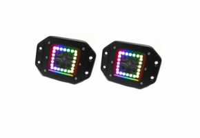 3 Inch ColorADAPT Series RGB-Halo LED Flush Mounted Lights by Race Sport Lighting |Sold in Pairs|