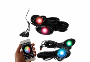4 Piece ColorSMART RGB Multi-Color Rock Lights by Race Sport Lighting