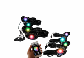 8 Piece ColorSMART RGB Multi-Color Rock Lights by Race Sport Lighting