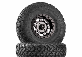 Fuel Anza D918 Matte Gunmetal Beadlock Wheels w| Fuel Gripper R | T Tires