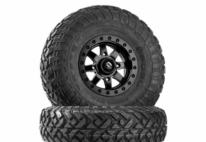 Fuel Maverick D928 Matte Black Beadlock Wheels w| Fuel Gripper R | T Tires