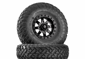 Fuel Maverick D928 Matte Black Beadlock Wheels w| Fuel Gripper T | R | K Tires