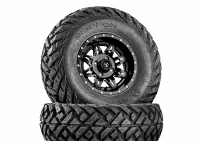 Fuel Lethal D567 Matte Black & Milled Wheels w| Fuel Gripper Tires