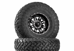 Fuel Lethal D567 Matte Black & Milled Wheels w| Fuel Gripper R | T Tires