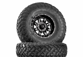 Fuel Lethal D567 Matte Black & Milled Wheels w| Fuel Gripper T | R | K Tires