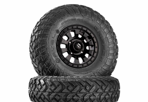 Fuel Tactic D630 Satin Black Wheels w| Fuel Gripper T | R | K Tires