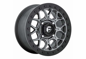 Fuel Tech D919 Matte Gun Metal Beadlock Wheel Set - 15 Inch
