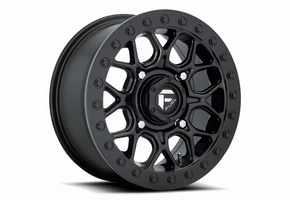 Fuel Tech D916 Matte Black Beadlock Wheel Set - 15 Inch