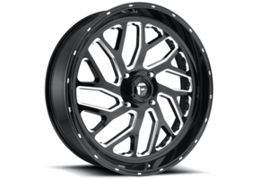 Fuel Triton D581 Gloss Black & Milled Wheel Set - 16 | 18 | 20 | 22 | 24 Inch