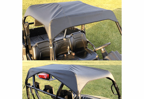 Over Armour Soft Top - 2012-14 Arctic Cat Prowler w| Round Bars