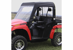 Over Armour Soft Windshield, Top and Rear Window - 2006-11 Arctic Cat Prowler w| Square Bars
