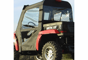 Over Armour Soft Doors and Rear Window - 2006-11 Arctic Cat Prowler w| Square Bars