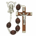6mm Carved Rosepps Beads and Madonna Center  Rosary
