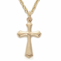"14K Gold Filled Cross Necklace in a Pointed Ends Design on 18"" Chain"