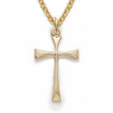 "14K Gold Filled Flared Cross on 16"" Chain"