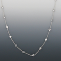 "18"" Crystal CZ Stones Diamond Like Chain Necklace By The Yard"