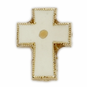 Cross Lapel Pin with Mustard Seed