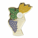 "7/8"" x 5/8"" Enameled Lapel Multicolor Chalice Pin"