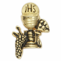 "3/4"" x  5/8"" Gold Lapel Chalice Pin"