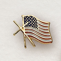Flag with Cross Lapel Pin